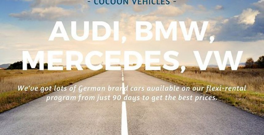We've got lots of German brand cars available on our Flexi-rental program. Our best prices are available when taking the car for 90 days or more. Find out more on our website!