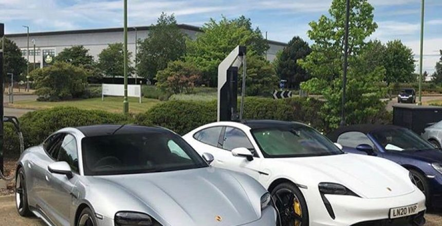 Posted @withregram • @supercarsoflondon Quite like these @scootsupercars spotting 2x Porsche Taycan's at Porsche Centre Hatfield Thoughts?