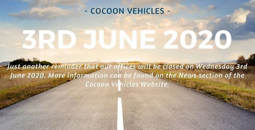 "Just another reminder that our offices are closed tomorrow (Wednesday 3rd June 2020). Find out more on our website and click ""news"""