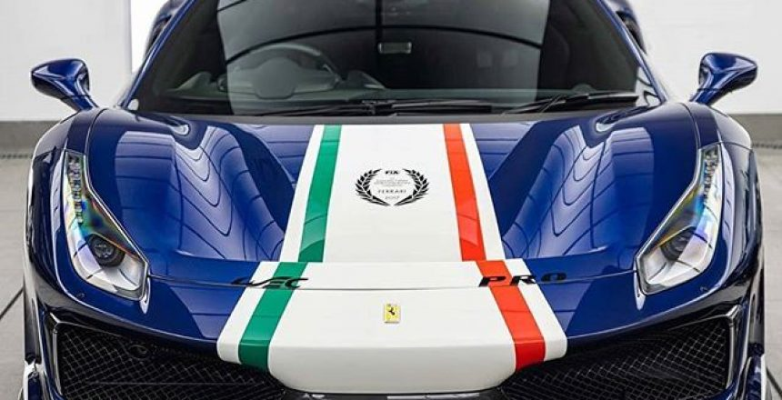 Posted @withregram • @topazdetailing A different Pista Piloti to the one we showed you earlier in the week  This homage to Ferrari's endurance racing success benefitted from full paint protection in our studios earlier in the year. As a result, the car is protected from stone chips, scratches and swirl marks, with the overall gloss factor intensified by the film