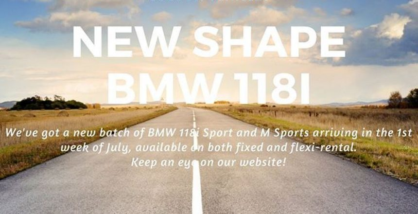 We've got a new batch of BMW 118's coming into stock in the 1st week of July! Keep an eye on our website for more details, link in Bio!