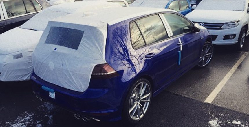 VW Golf R waiting to go out to a Long Term customer! 2.5 months it has taken for it to come through!