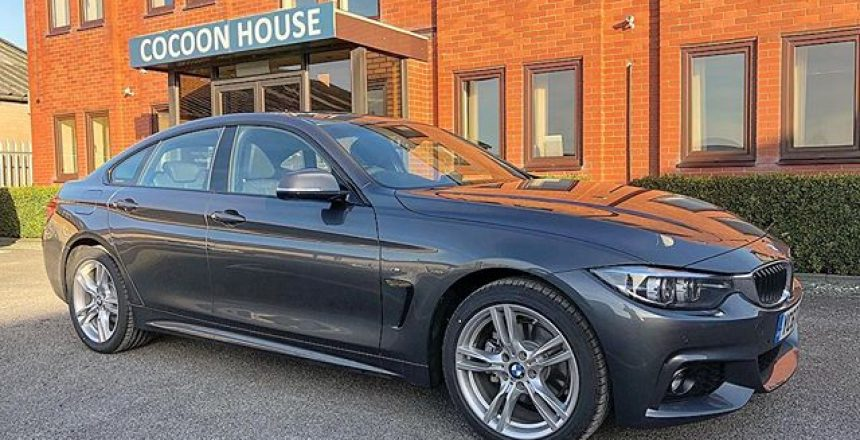 No Filter needed on this BMW 420d Gran Coupe that's being delivered to a new customer in Clay across today.