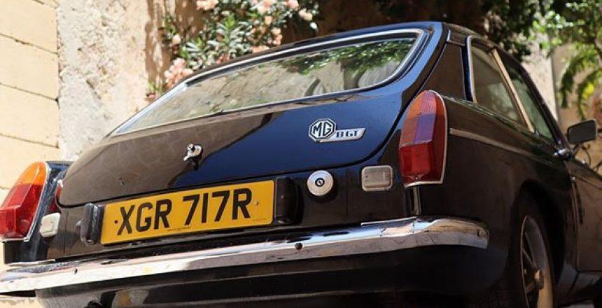 Classy Classic Car in a beautiful parking spot! The MGBGT