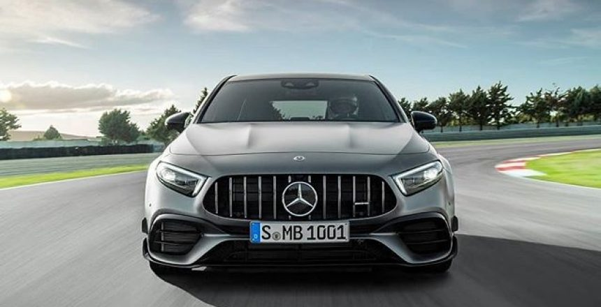 Posted @withrepost • @mercedesamg [Fuel consumption combined: 8.4-8.3 l/100km | CO2 emissions combined: 192-189 g/km] An updated suspension with specific spring elements and new frequency-selective shock absorbers for high directional stability and dynamic cornering characteristics let the new Mercedes-AMG A 45 S 4MATIC+ set new standards in the compact sports car segment.