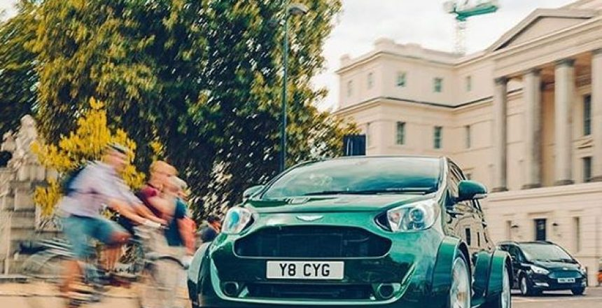 Posted @withrepost • @topgear The original Aston Cygnet was a poached-up, rebadged Toyota iQ with a 1.33-litre engine making 97bhp. At £31k it was a very expensive joke, and not a particularly funny one. This one, however, is far more amusing, 'cos it crams in a 4.7-litre V8 from the Vantage. The ultimate city car? Time for a lap of London... Read all about it on TopGear.com.  @mark_scenemedia