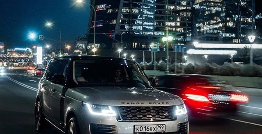 "Posted @withrepost • @landrover Into the night, in refined style. Search ""Range Rover test drive"" to experience city exploration at its most luxurious."