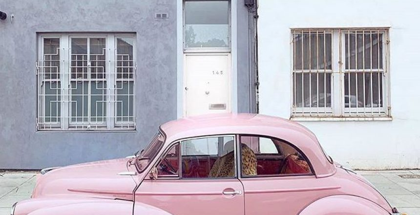 Posted @withrepost • @londonispink Beep beep So many pink cars, so little time. . . . #mytinyatlas #suitcasetravels #tlpicks