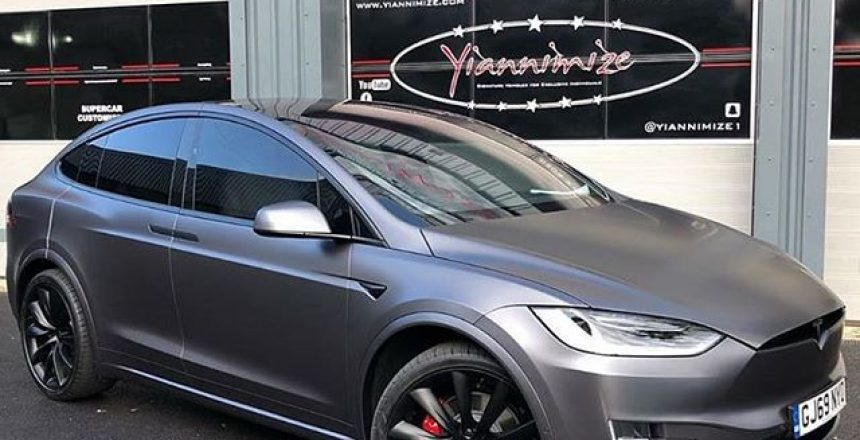 Posted @withrepost • @yiannimize Satin Grey Tesla complete. This looks so good. We are wrapping and de chroming more and more Tesla's than ever now.