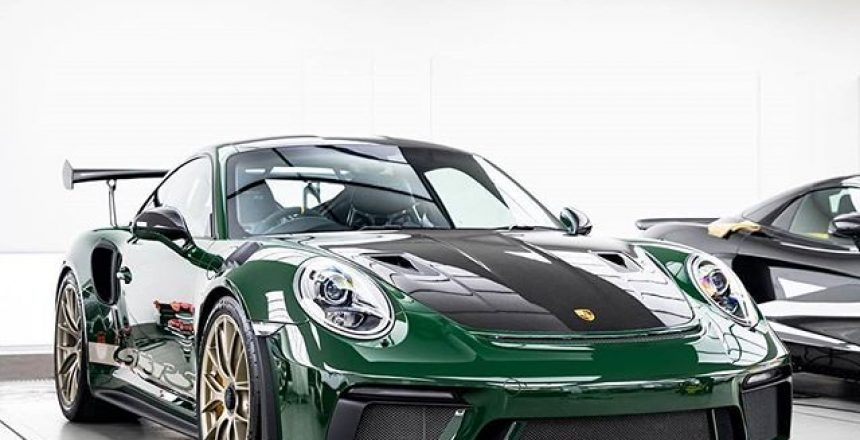 Posted @withregram • @topazdetailing PTS British Racing Green Porsche 991.2 GT3RS recently protected in our workshop  Just perfection