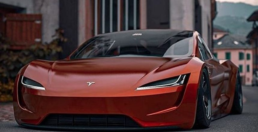 Posted @withregram • @tesla_official Tesla Roadster ️