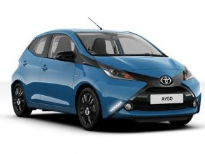 Toyota Aygo Hatchback on 6 month short term car lease.