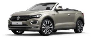 Volkswagen T-Roc Cabriolet on 6 month short term car lease.